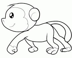 Cartoon Monkey Coloring Pages 48571