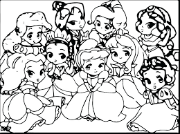 Baby Disney Princess Coloring Pages Cute