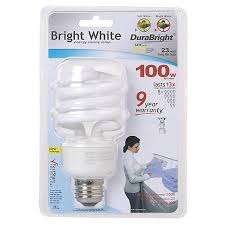 bright white 23 watt cfl light bulb 65558 ls plus