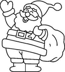 Detail Christmas Santa Coloring Pages Free