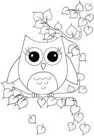 Free Coloring Sheets Animal Owl For Kids
