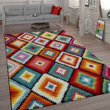 retro rug living room pattern colourful