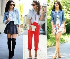 Denim Jacket With Skirt Trouser And Summer Dress