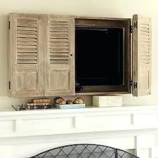 versteckte tv möbel dekoration ideen fernseher