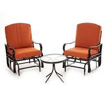 sag harbor 3pc patio glider chair seating set boscov s