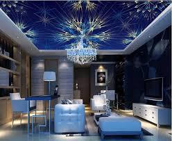 anpassen hochwertige 3d tapeten für decke blau helle farbe spirale licht 3d decke wandmalereien tapeten für wohnzimmer