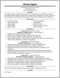 Truck Driver Objective For Resume Samples Drivers Garbage Examples