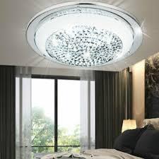 details zu luxus led decken le schlafzimmer chrom glas wand leuchte kristalle rund
