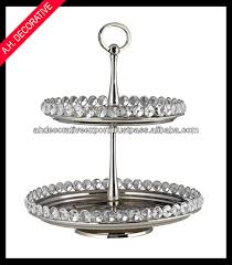 Crystal Round Cake Stand 2 Tier Silver Cake Stand 2 Tier Cake