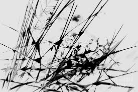 Strike Out Black And White Abstract Photograph By Natalie Kinnear