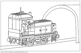 Train Carriage Lego Coloring Pages