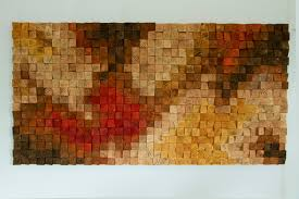Large Rustic Wood Wall Art Sculpture Abstract Painting On