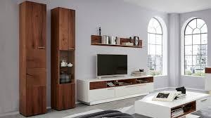 interliving wohnzimmer serie 2102 wohnkombination 510804s dunkles asteiche furnier weißer mattlack vierteilig breit