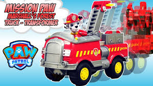 PAW Patrol Marshall's NEW Transformers FOREST FIRE TRUCK Toy ...
