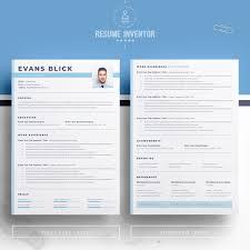 Evans Blick Resume Template 78220 Graphic Design Trends