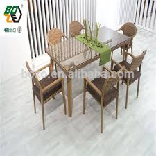 Cheap Rattan Table And Chair Outdoor Plastic Dining Room Furniture Set
