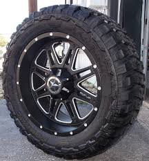 100 20 Inch Truck Rims Black Awesome Matte Black Wheels Tires Dodge