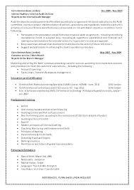 Sample Resume For Internal Auditor Senior Audit