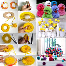 Brilliant Handmade Decorative Items Home How To Make Things Learn Pom Poms And Craft Diy
