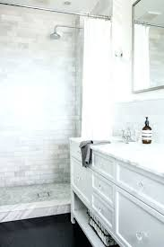 tiles white subway tile bathroom with gray grout subway tile
