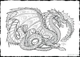 Free Printable Chinese Dragon Coloring Pages Gether For Adults Animals