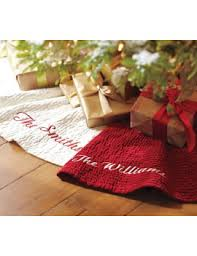 Channel Quilted Velvet Tree Skirt By Pottery Barn