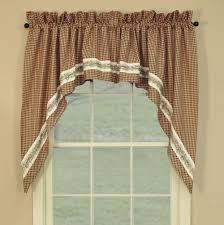 Primitive Curtains For Living Room by Country Swag Curtains Country Style Curtains