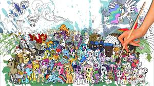 BIGGEST My Little Pony Coloring Page EVER Friendship Is Magic