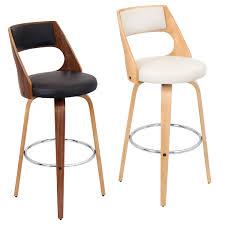 Kitchen Design : Modern Wooden Swivel Bar Stools With ...