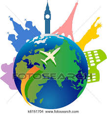 Clipart Of Traveling Around The World K6151704