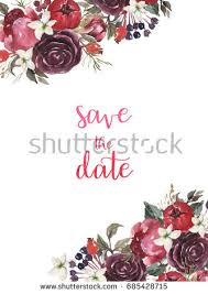 Watercolor Flower Set Beautiful Floral Clip Art Elegant Frame Border Header
