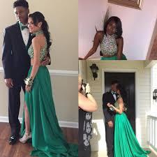 online get cheap green 2 piece prom dresses aliexpress com
