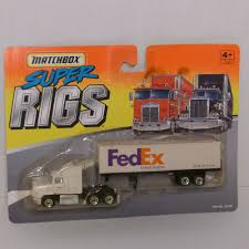 Vintage 1996 Matchbox Super Rigs Tractor Trailer FedEx Semi Truck ... Diecast Toy Snow Plow Models Mega Matchbox Monday K18 Articulated Horse Box Collectors Weekly Peterbilt Tanker Contemporary Cars Trucks Vans Moosehead Beer Matchbox Kenworth Cab Over Rig Semi Tractor Trailer Just Unveiled Best Of The World Premium Series Lesney Products Thames Trader Wreck Truck No 13 Made In Amazoncom Super Convoy Set 4 Ton Fire Sandi Pointe Virtual Library Collections Buy Highway Maintenance 72 Daf Xf95 Space Jasons Classic Hot Wheels And Other Brands 1986 Mobile Crane Dodge Crane 63 Metal