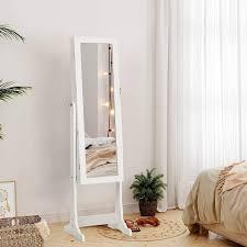 songmics schmuckschrank jbc94w spiegelschrank mit led beleuchtung weiß kaufen otto