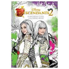 Descendants 2 Wickedly Cool Coloring Book Paperback Disney Group