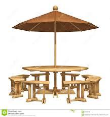 Wooden Patio Furniture Stock Illustration Of
