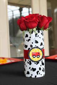 Flower Arrangement Party Man Baby Shower Dalmatian S And Utensils The Journey Of Parenthood Decorations