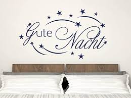 grazdesign schlafzimmer wandaufkleber gute nacht
