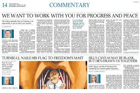 On March 22 2017 A Signed Article Titled We Want To Work With You For Progress And Peace By Premier Li Keqiang Was Published In Australian Newspaper