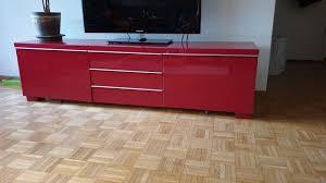ikea tv möbel besta rot kaufen auf ricardo