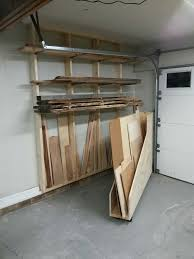 lumber storage area horizontal storage for longer pieces and a