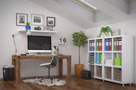 wohnzimmer und büro kombiniert stockfoto bild stilvoll
