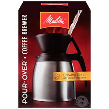 Shop Melitta 10 Cup Thermal Pour Over Coffeemaker Set With Cone And Stainless Carafe
