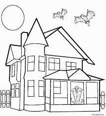 Elegant Haunted House Coloring Page 47 With Additional Free Book