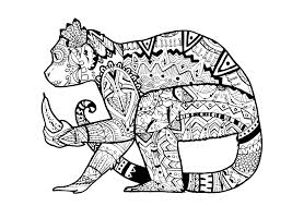 Coloring Page Monkey By Pauline A In Zentangle Style