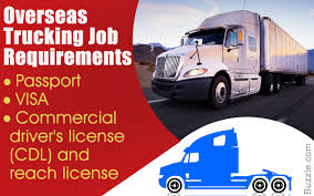 Requirements For Overseas Trucking Jobs You'd Want To Know About