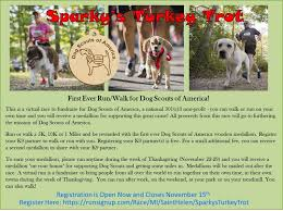 Sparkys Turkey Trot Dog Scouts Of America