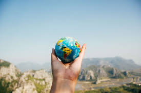 Adventure Ball Shaped Blur Close Up Earth Focus Globe Hand Mountain Outdoors Sky Travel Traveling Travelling World 4k Wallpaper And Background