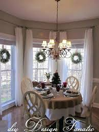 Dining Room Windows Kitchen Bay Window Treatments Fancy Curtains Table Luxury Full Size