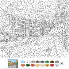 Click To See Printable Version Of Old Town Street Color By Number Coloring Page